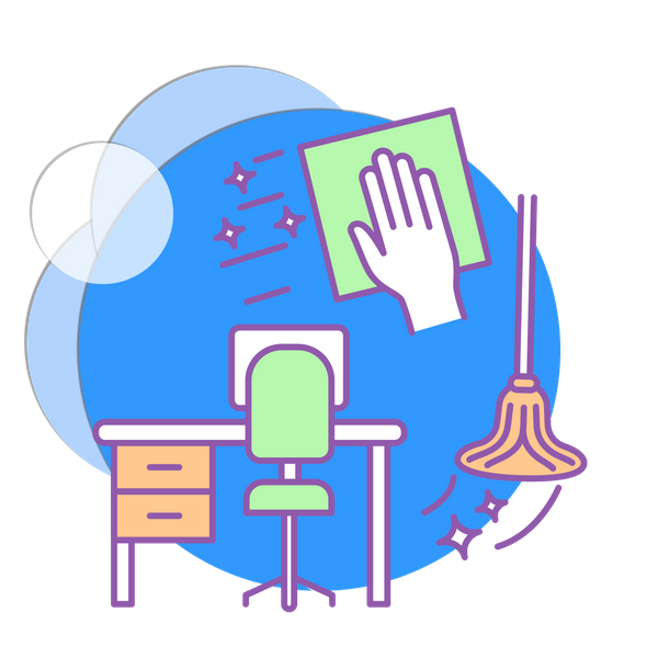 cleaning office icon