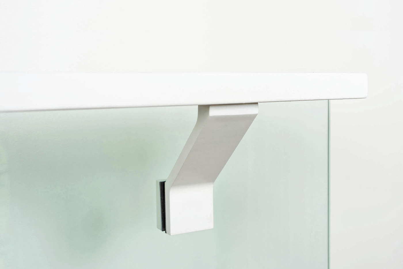Glass-mounted-white-handrail-bracket