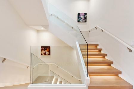 White-stair-rail