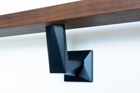 Wall-mounted-black-handrail-bracket