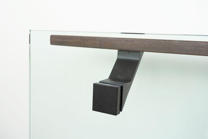 Glass-mounted-modern-handrail-bracket