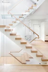 White-modern-staircase