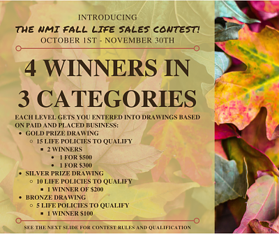 Fall Life Sales Contest