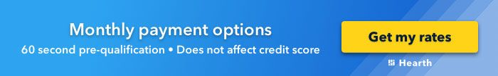 Monthly payment options banner