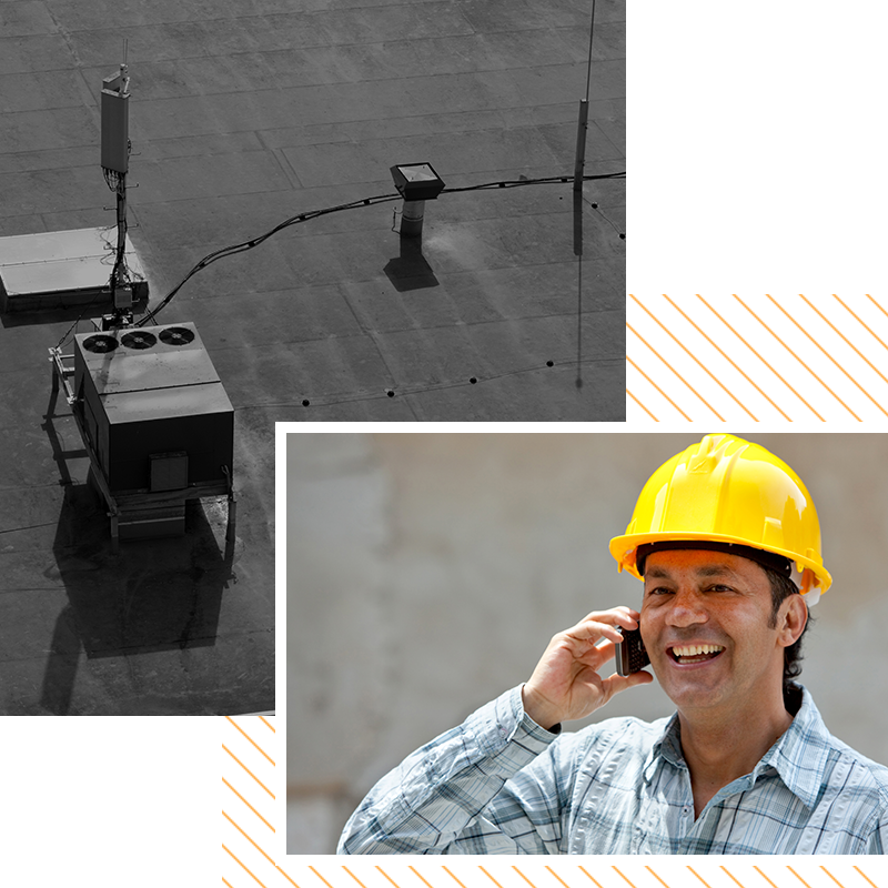 Image of a contractor talking on the phone