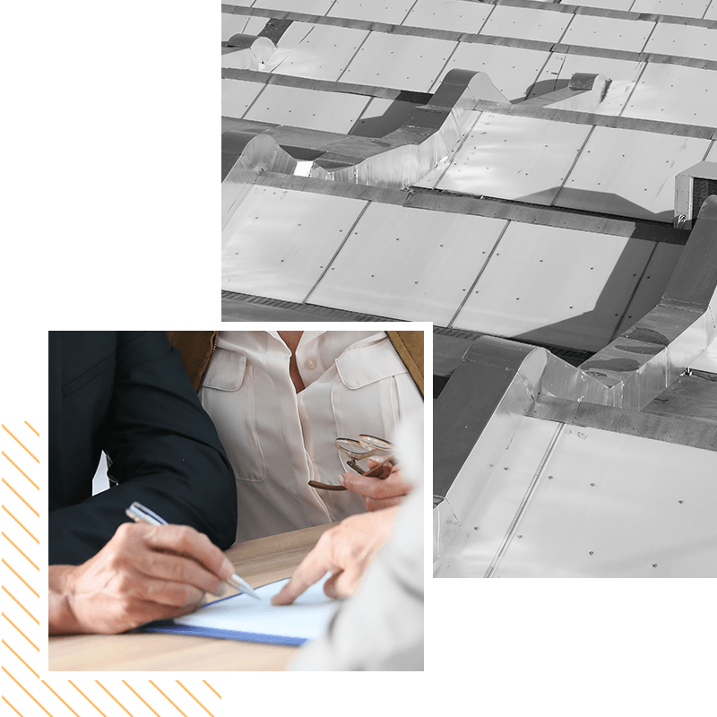 Image of a person going over property insurance papers
