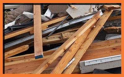 Image of broken roof fixtures