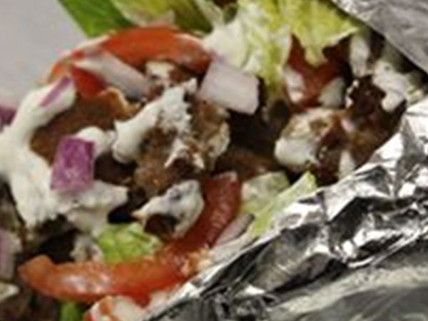 Alt Image Tag: image of a gyro from Pizza Casbah
