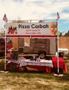 Pizza Casbah booth set up