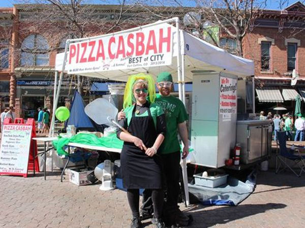 image of the pizza casbah mobile pizza cart