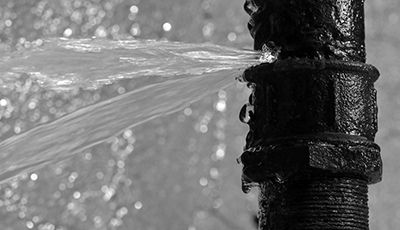 Image of a burst pipe