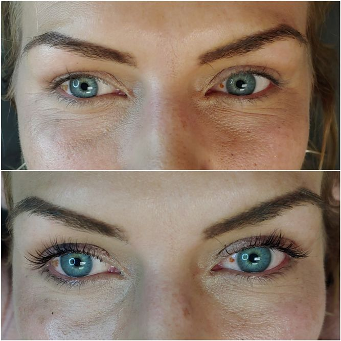Micoblading brows and natural lash extensions at The Permanent Makeup Studio