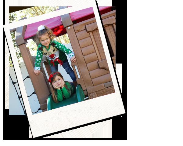 polaroid of children on playground