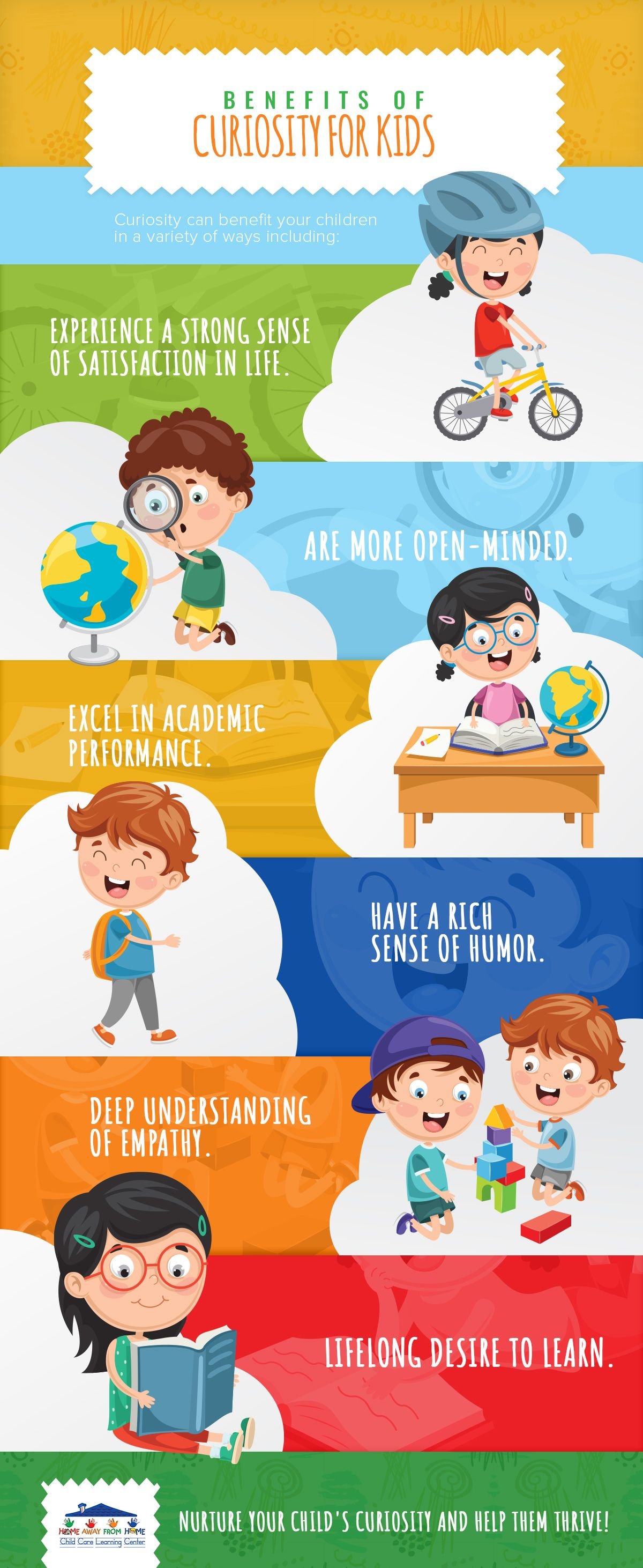Benefits of Curiosity for Kids Infographic