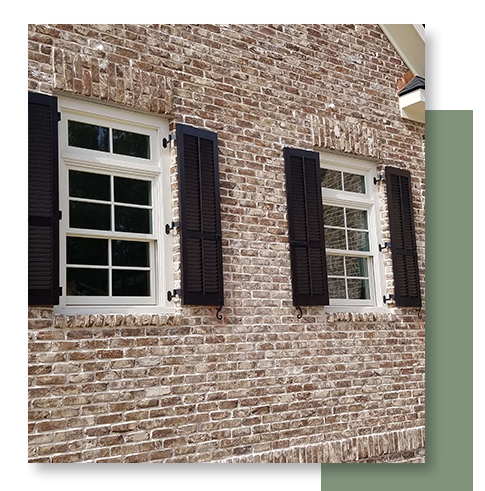 Image of exterior plantation shutters.