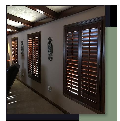 Image of interior plantation shutters.