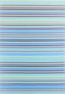 4x6 Mad Mat Grey Stripe Aqua