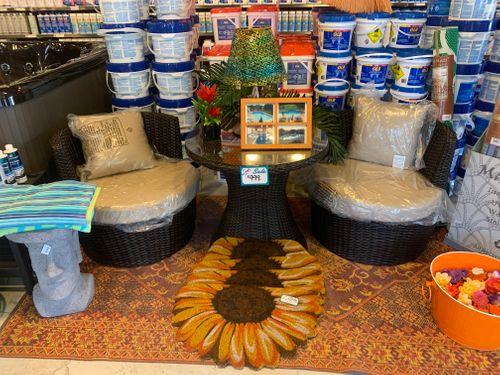 Barrel Furniture Brown and Tan