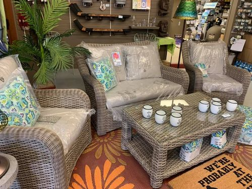 Grey Loveseat and Chairs