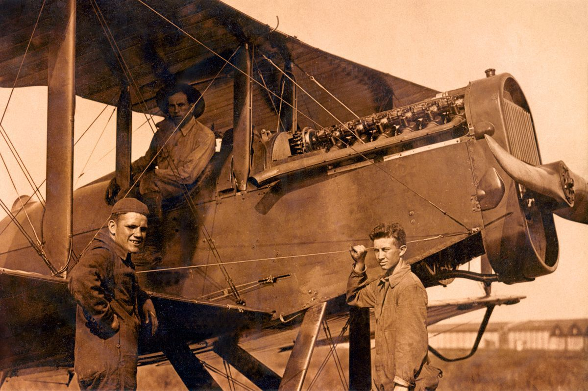 U.S. Army Air Service De Havilland DH4 Ground Crew