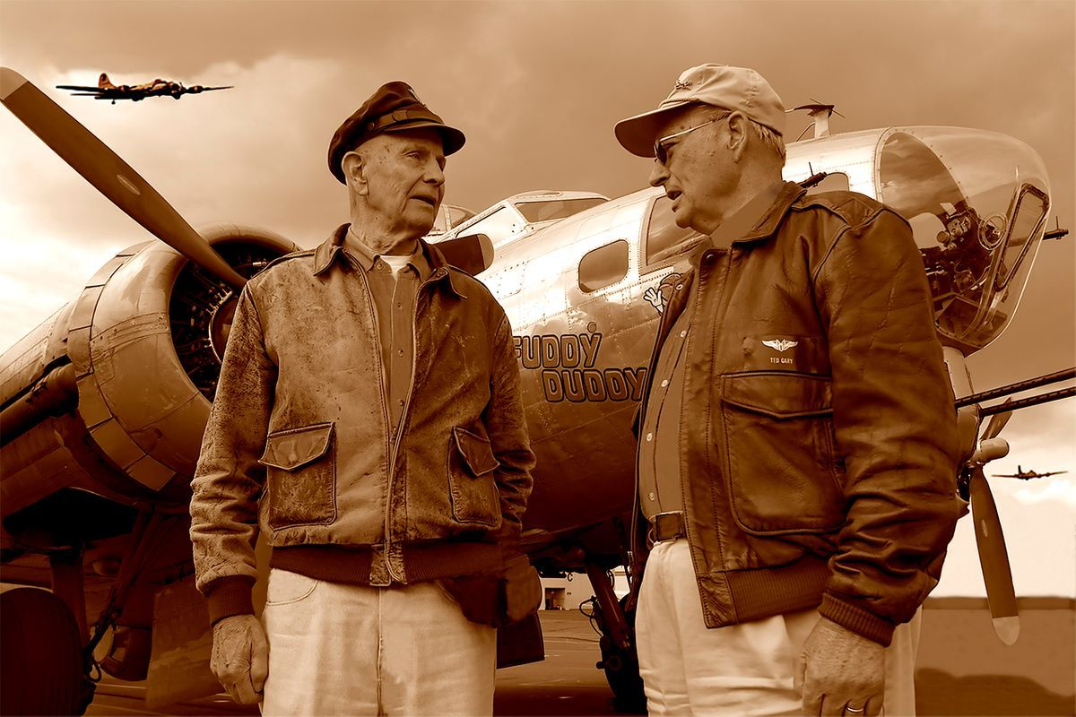 WWII Bomber Veterans Edgar Allen and Ted Gary