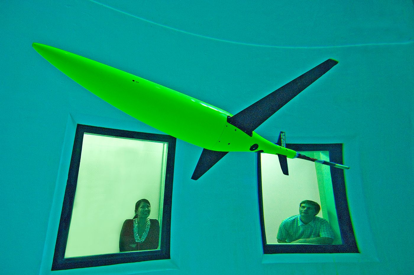 The Sea Glider Drone is used by the UW School of Oceanography on experiements in the Pacific and under the polar ice caps.