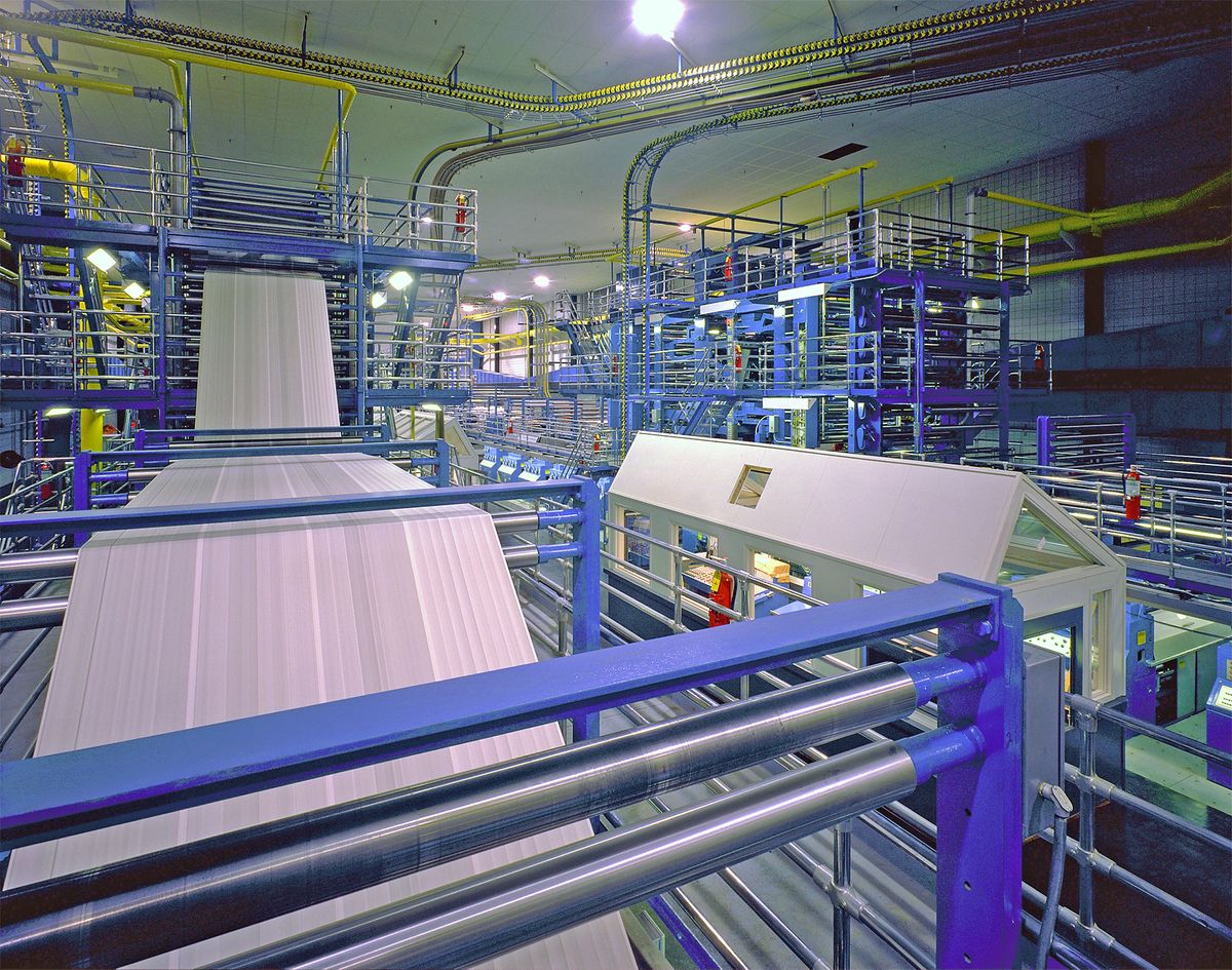 LA Times Printing Plant in Northridge, CA