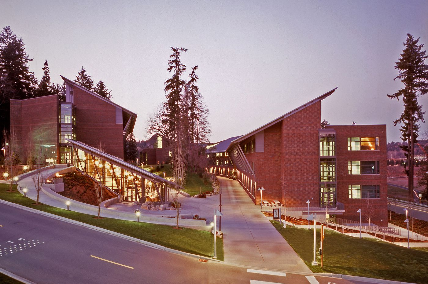 The southern view of the UW Bothell Campus