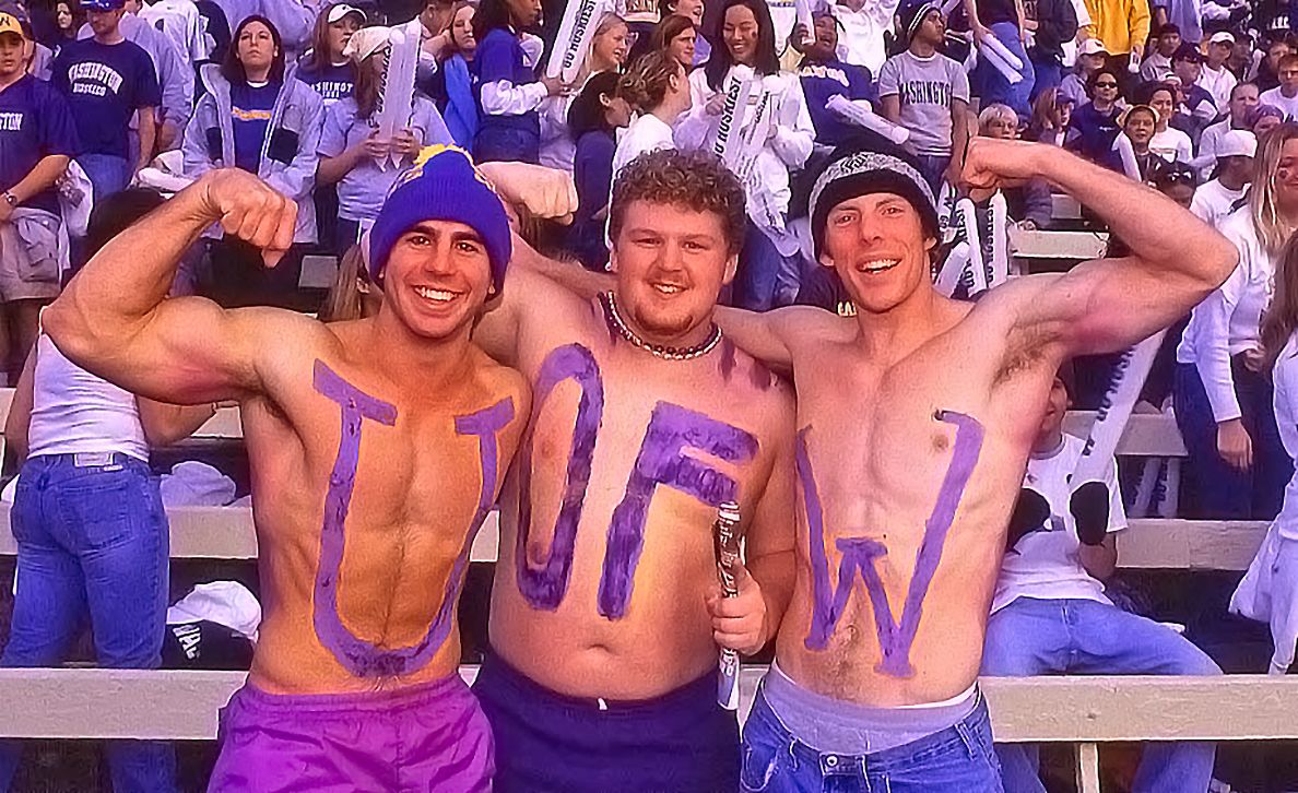 U OF W at the Apple Cup in Husky Stadium