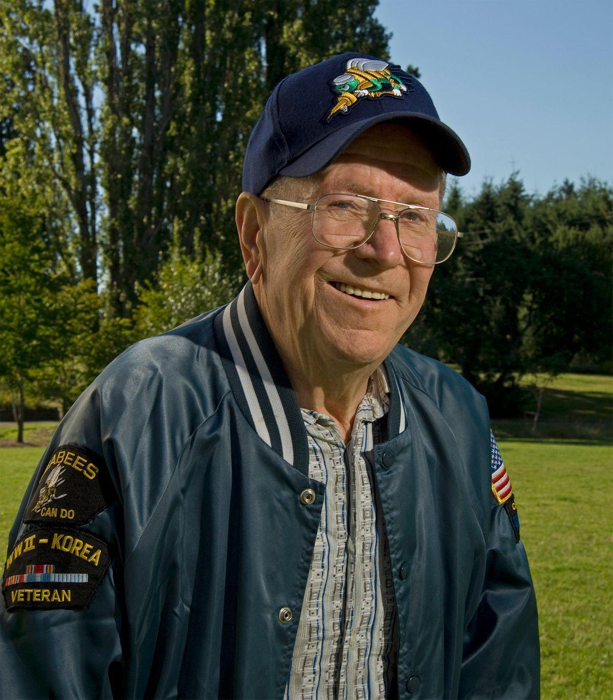 WWII Navy Veteran Clifton (Bud) Riel.
