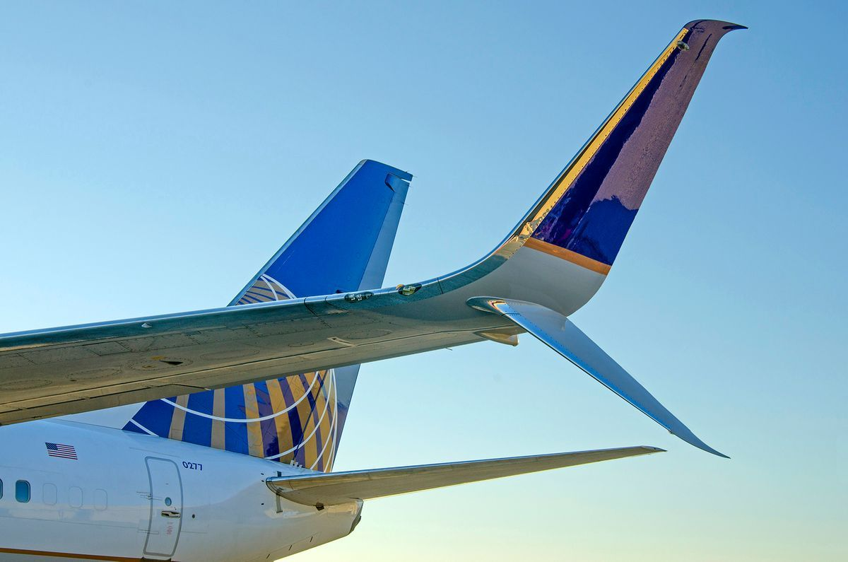 United Airlines Winglet / Scimitar Structure