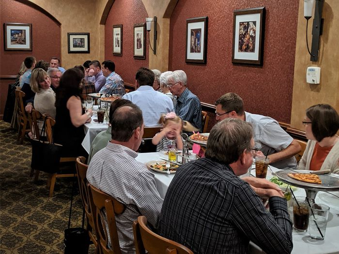 A photo of people dining at Sorrentos Italian Cuisine.