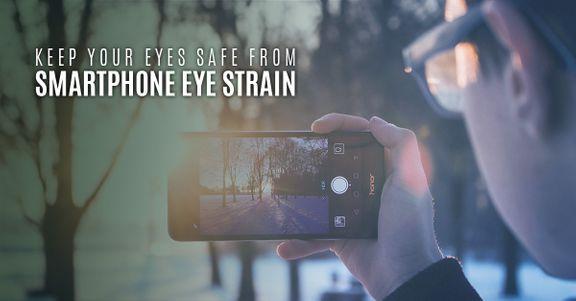 Smartphone eye strain