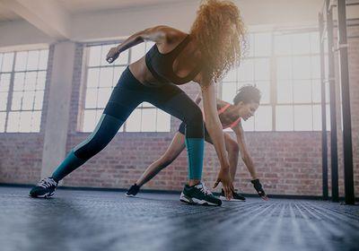 Women doing sprints