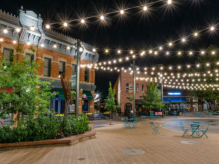 Old town square in Fort Collins, CO
