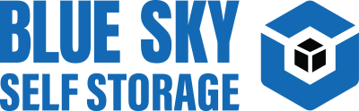 blue sky self storage logo