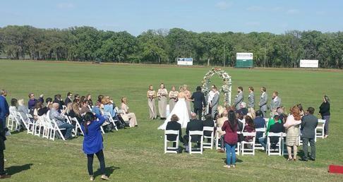 Outdoor wedding at Prestonwood