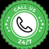 call us badge