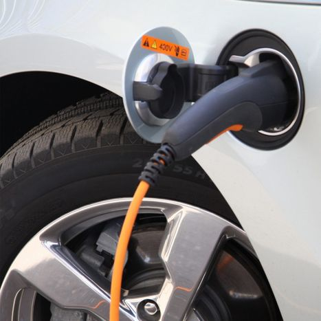 Image of an electric car being charged.