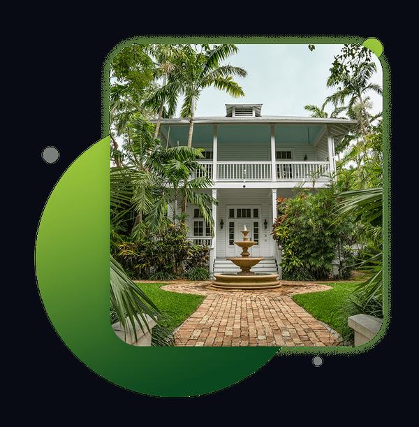 Image of a lush Florida landscaped yard
