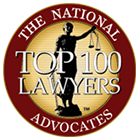 The National Top 100 Lawyers Advocates Badge