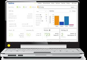 NextOS platform on computer screen