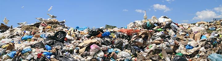 image of a huge pile of recyclable material
