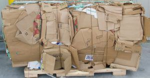 Image of a bail of cardboard