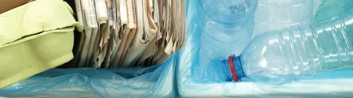 an image of bins full of paper and plastic