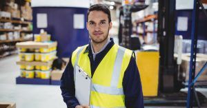 Image of person working in a warehouse