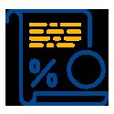 Percentage paper icon