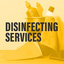 Disinfecting services badge