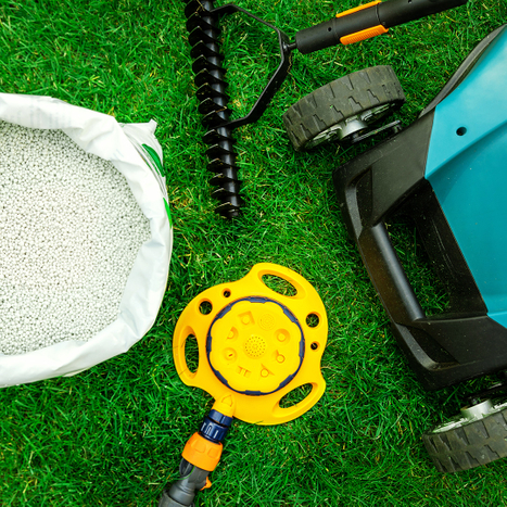 Lawn care tools and equipment.