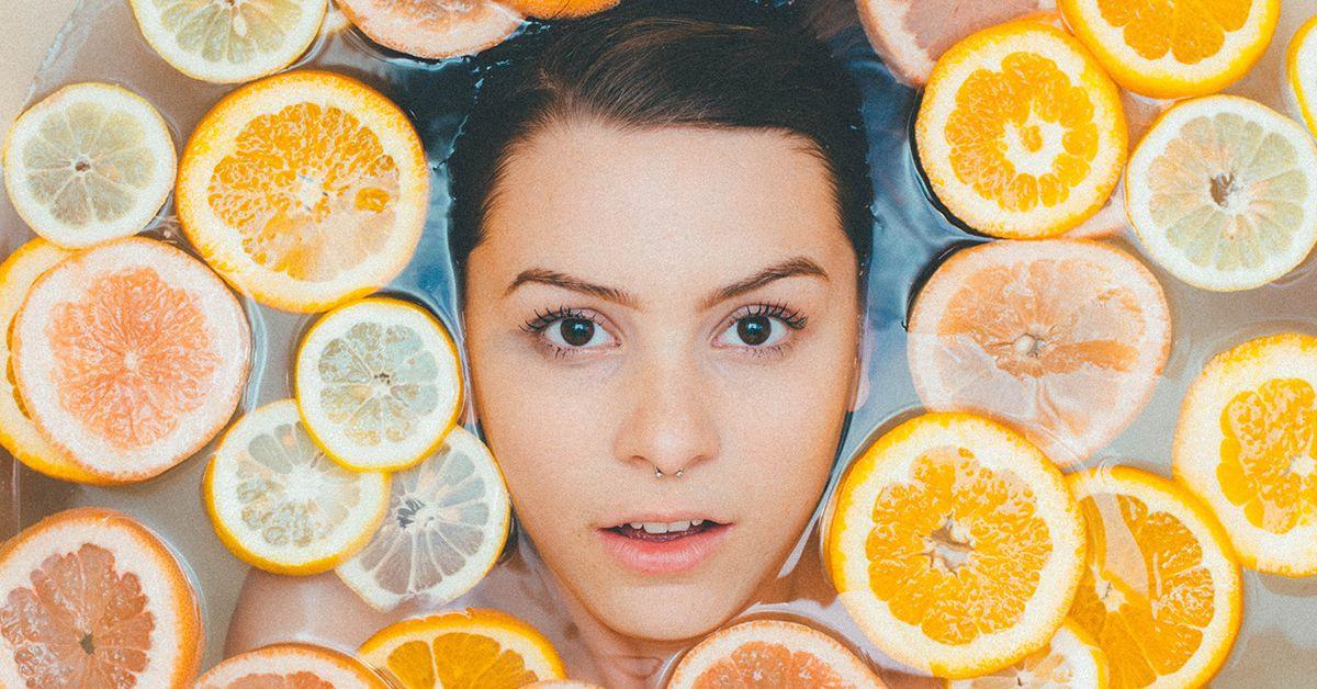 Girl in Citrus Bath